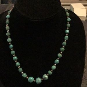 BEAUTIFUL VINTAGE CP 925 NECKLACE- TURQUOISE